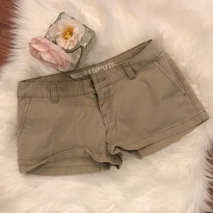 Mossimo Low Rise Khaki Shorts